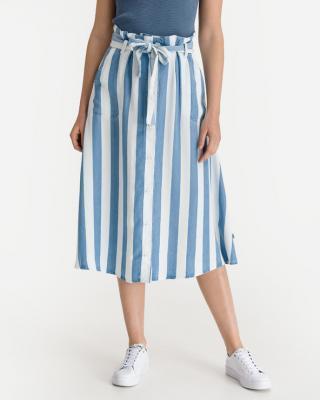 Lee Button Front Sukňa Modrá Biela dámské XS