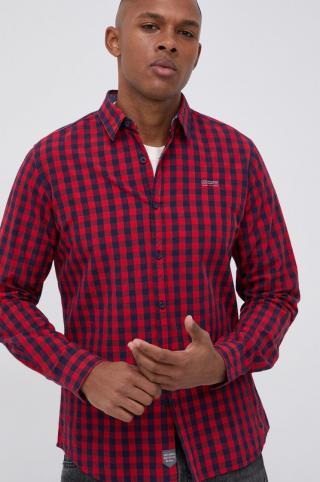 Lee Cooper - Bavlnená košeľa pánské červená M