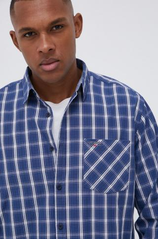 Lee Cooper - Bavlnená košeľa pánské tmavomodrá XL