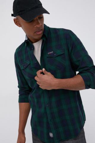 Lee Cooper - Bavlnená košeľa pánské zelená M