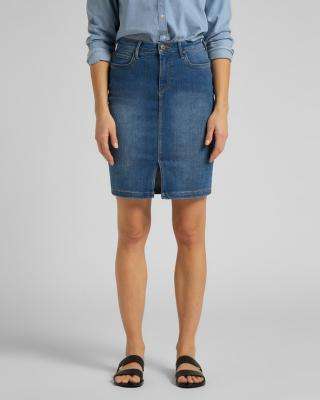 Lee Pencil Sukňa Modrá dámské 30