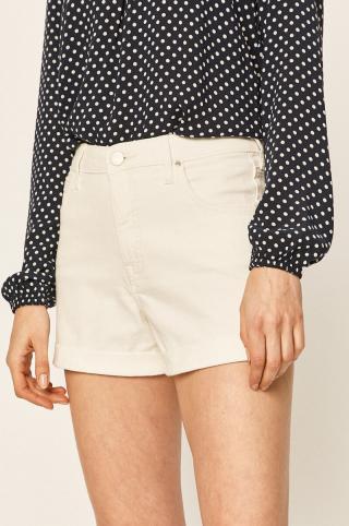 Lee - Rifľové krátke nohavice dámské biela 26