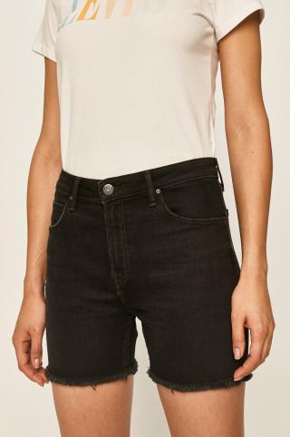 Lee - Rifľové krátke nohavice dámské čierna 27