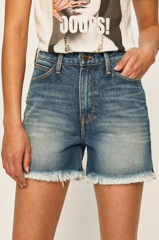 Lee - Rifľové krátke nohavice dámské modrá 26