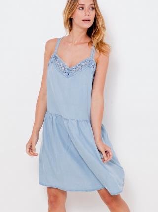 Letné a plážové šaty pre ženy CAMAIEU - svetlomodrá dámské XXL