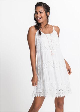 Letné šaty s čipkou dámské biela 36,38,40,42,44,46,48,50,52,54