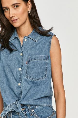 Levis - Bavlnená košeľa dámské modrá XS