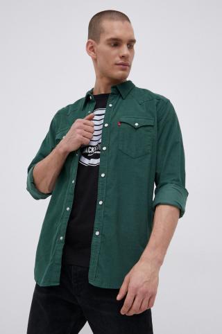 Levis - Manšestrová košeľa pánské zelená M