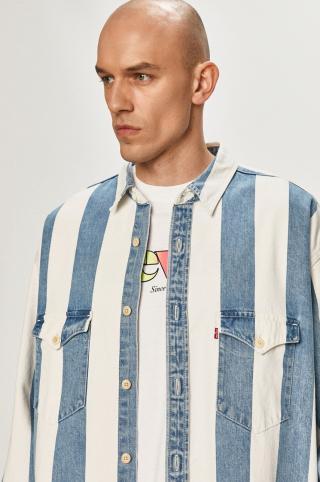 Levis - Rifľová košeľa pánské modrá S