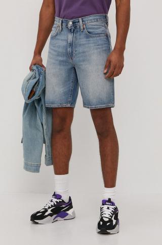 Levis - Rifľové krátke nohavice pánské modrá 36