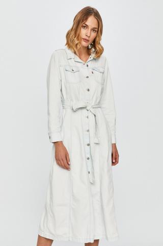 Levis - Rifľové šaty dámské modrá XS
