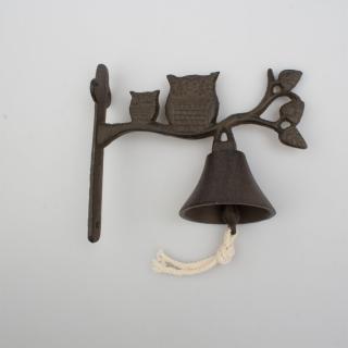 Liatinový zvonček Sovy, 17 x 18,5 x 8,5 cm
