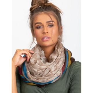 Light beige patterned scarf dámské Neurčeno One size