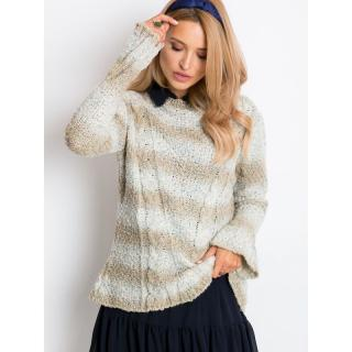 Light beige sweater with colored thread dámské Neurčeno one size M/L