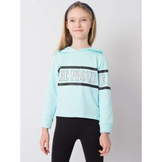 Light blue cotton sweatshirt for a girl dámské Neurčeno 110