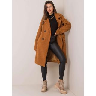 Light brown double-breasted coat dámské Neurčeno S