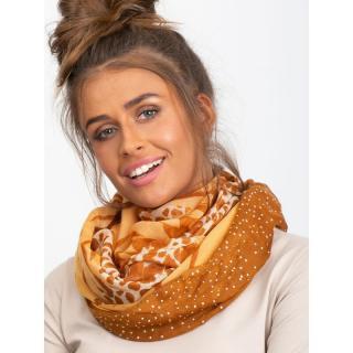 Light brown leopard print scarf dámské Neurčeno One size