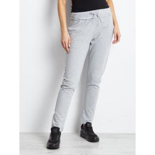 Light gray sweatpants with drawstrings dámské Neurčeno S