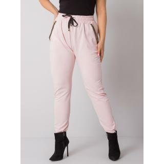 Light pink cotton plus size sweatpants dámské Neurčeno XXL