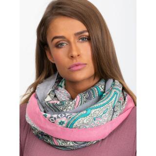 Light pink scarf with prints dámské Neurčeno One size