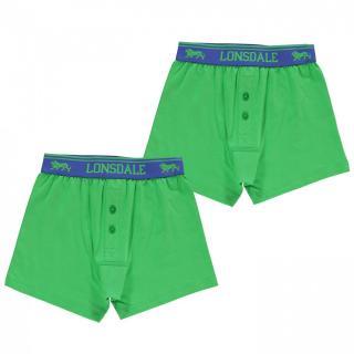 Lonsdale 2 Pack Boxers Junior pánské Other XL