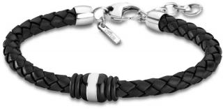 Lotus Style Čierny kožený náramok LS1814-2 / 5