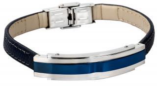 Lotus Style Tmavo modrý kožený náramok LS1809-2 / 2