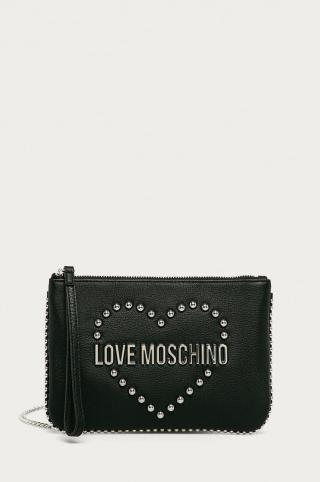 Love Moschino - Kožená kabelka dámské čierna ONE SIZE