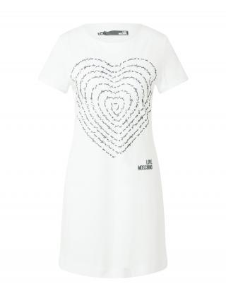 Love Moschino Šaty  biela / čierna dámské 32