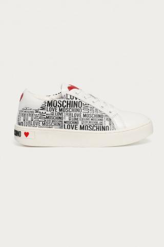 Love Moschino - Topánky dámské biela 38