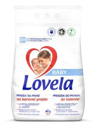 LOVELA Baby prášok na pranie na farebnú bielizeň 4,1 kg / 41 pracích dávok
