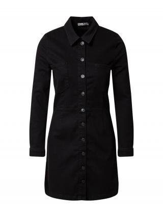 LTB Košeľové šaty HALSEY  čierna dámské 40
