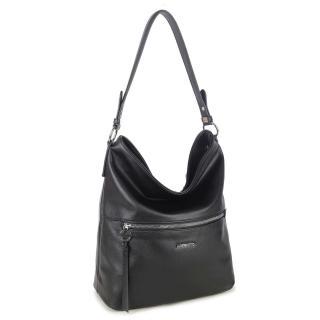 LUIGISANTO Black women´s eco-leather bag dámské Other One size