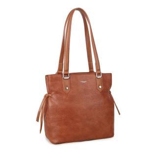 LUIGISANTO Brown eco leather handbag dámské Neurčeno One size