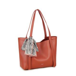 LUIGISANTO Light brown eco-leather bag dámské Other One size