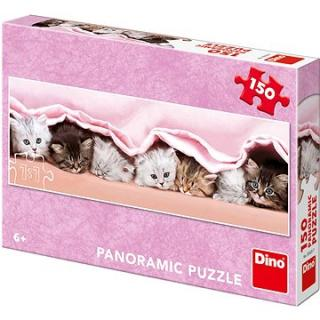 Mačiatka pod dekou - panoramic