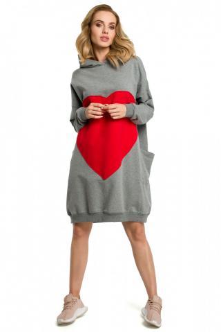 Made Of Emotion Womans Dress M387 dámské Grey One size