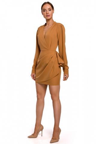 Made Of Emotion Womans Dress M531 Cinnamon dámské Brown L