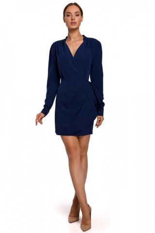 Made Of Emotion Womans Dress M531 Navy Blue dámské L