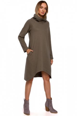 Made Of Emotion Womans Dress M551 Khaki dámské Green M