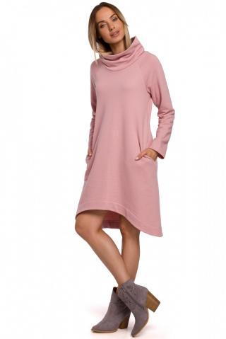 Made Of Emotion Womans Dress M551 Powder dámské Pink L