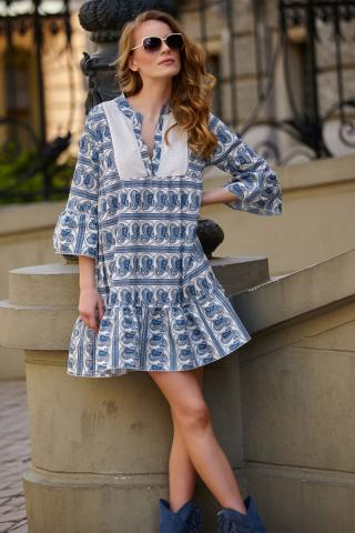Makadamia Womans Dress L13 Light dámské Blue One size