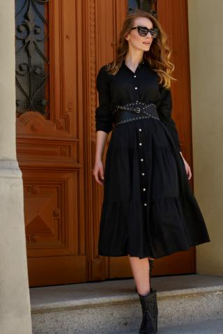 Makadamia Womans Dress L18 dámské Black One size
