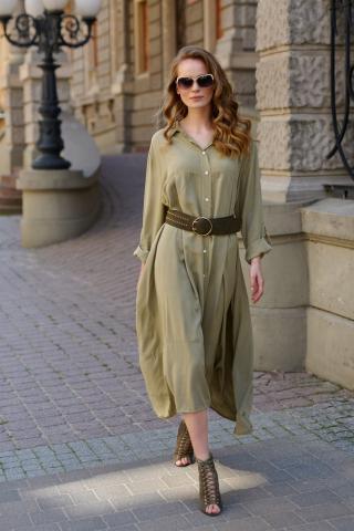 Makadamia Womans Dress L9 Olive dámské Green One size