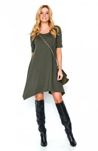 Makadamia Womans Dress M467 Khaki dámské Green 42