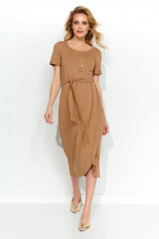 Makadamia Womans Dress M544 Cappuccino dámské Brown 36