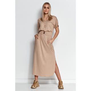 Makadamia Womans Dress M642 dámské Beige 40