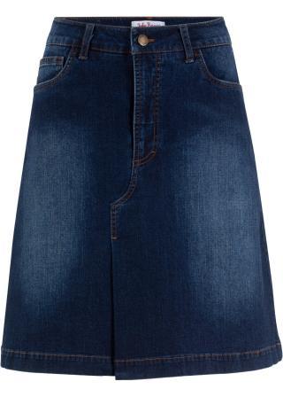 Mäkká strečová džínsová sukňa dámské modrá 34,36,38,40,42,44,46,48,50