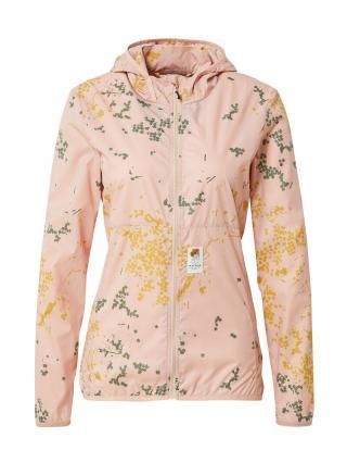 Maloja Outdoorová bunda Nelkenwurz  ružová / žltá / tmavozelená dámské XS