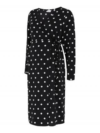 MAMALICIOUS Šaty  čierna / biela dámské 36